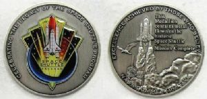 NASA's Space Shuttle Program Medallion (with space flown metal)